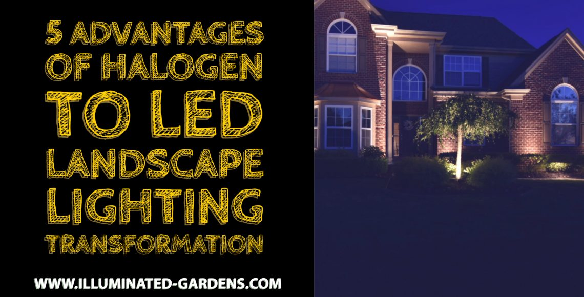5 Advantages of Halogen to LED Landscape Lighting Transformation